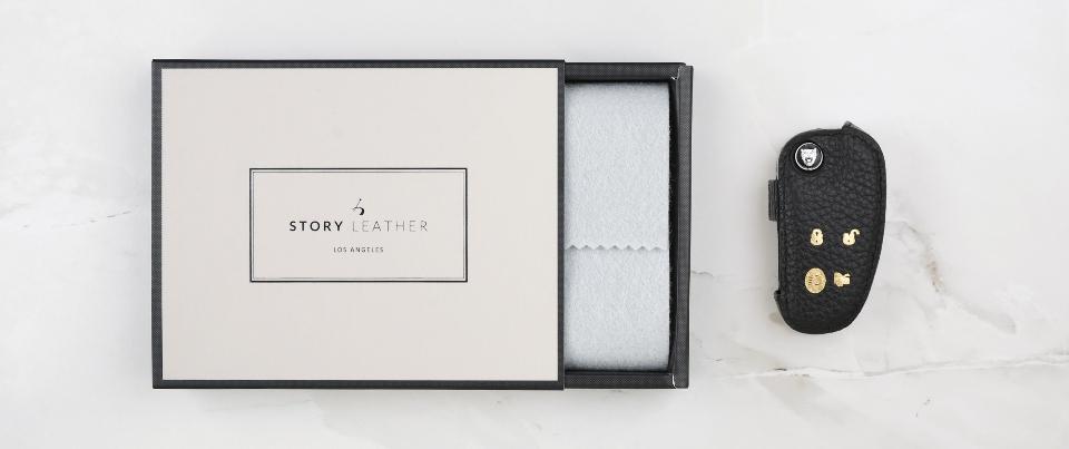 Custom Made Leather Key Cover for Your  Jaguar XJ8L Key Car Key Fob