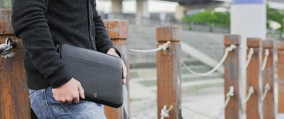 Pebble Grain Leather Zippered Pouch for Apple iPad 11-inch or smaller devices and more