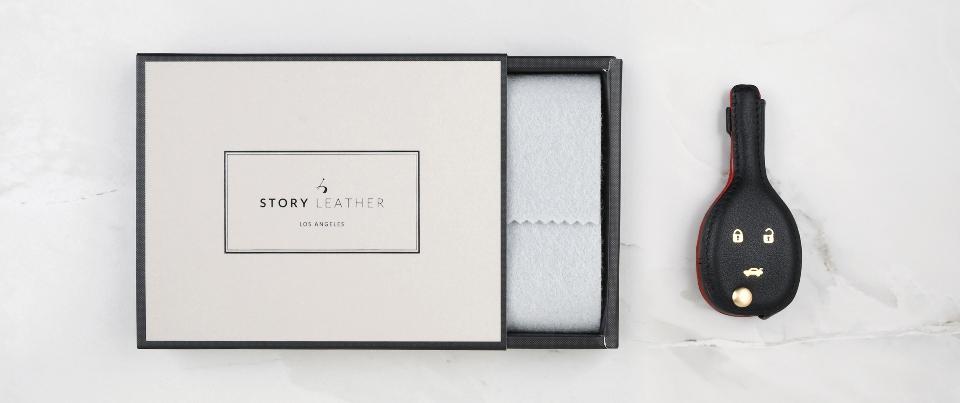 Custom Made Leather Key Cover for Your Saab 9-5 Key Car Key Fob