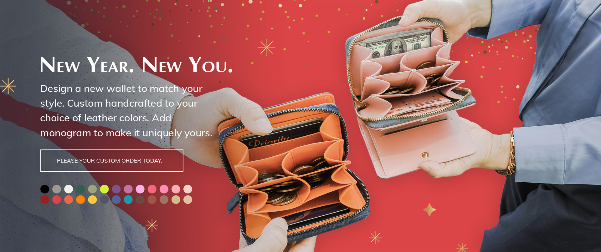 New Year. New Wallet. Design Yours Now