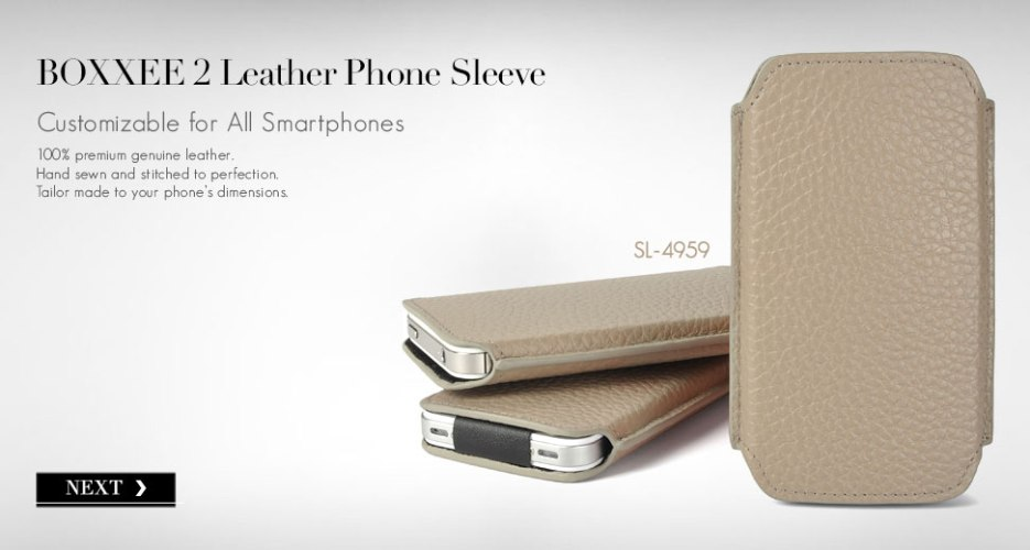Boxxee 2 Leather Case. Customizable for All Smart Phones.