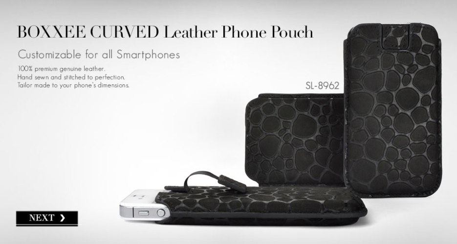 Boxxee Curved Leather Case. Customizable for All Smart Phones.