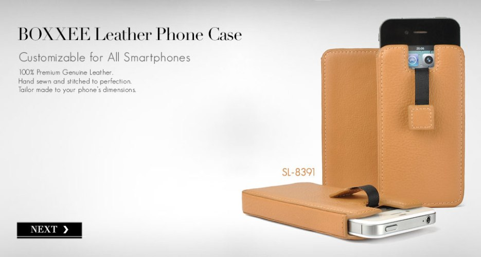 Boxxee Leather Case. Customizable for All Smart Phones.