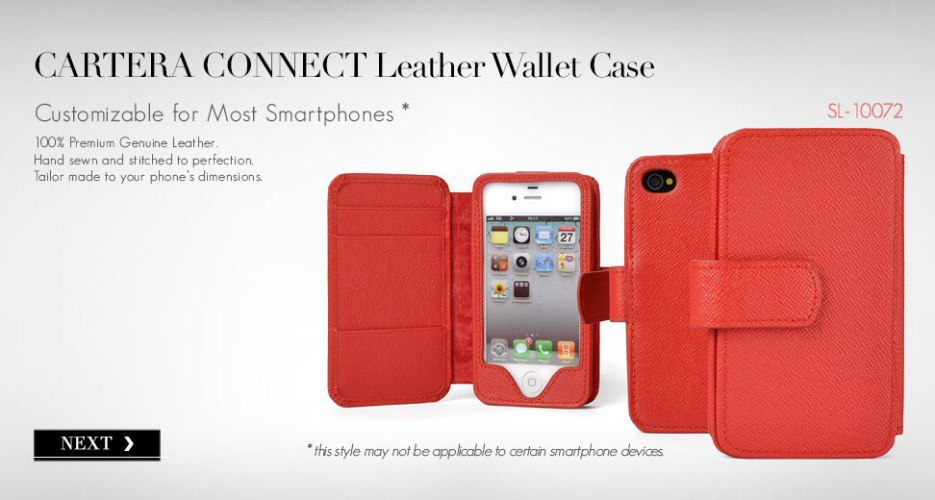 Cartera Connect leather wallet phone case