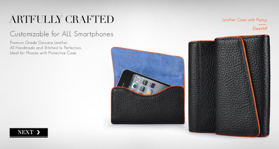 Deerhill Leather Phone Holster for All Smartphones.