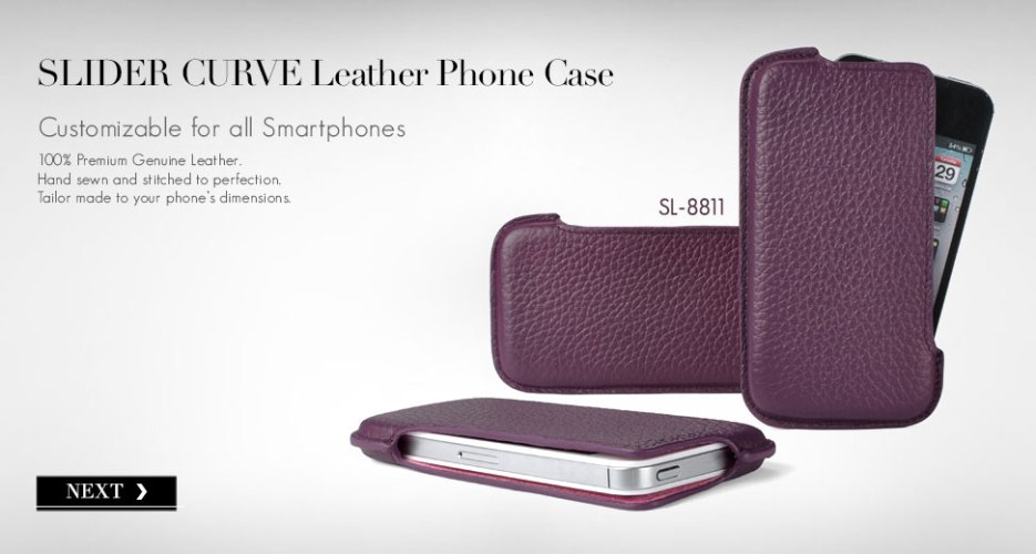 Slider Curve Case. Customizable for All Smart Phones.
