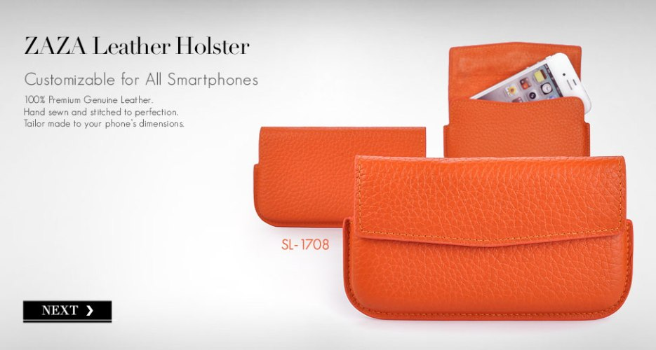 Zaza Leather Phone Holster Case. Click to Customize